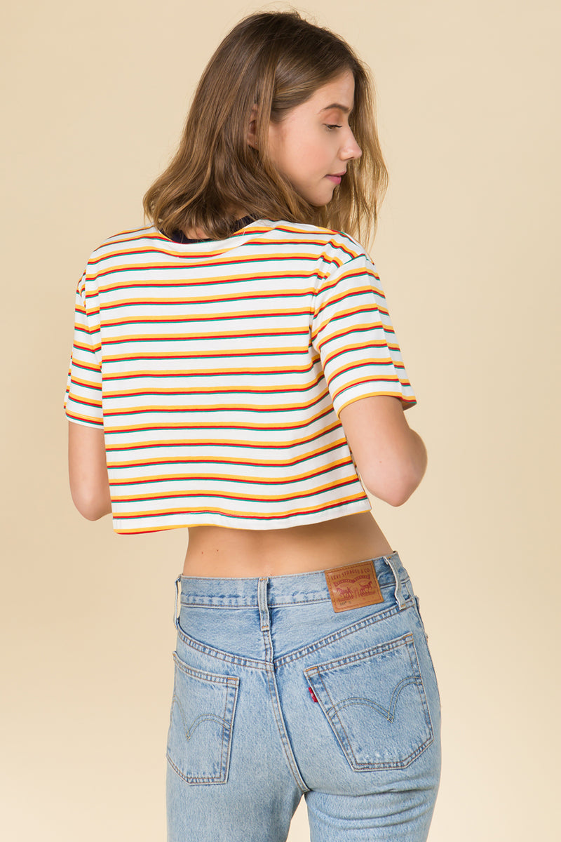 Ava Crop Tee in Yellow