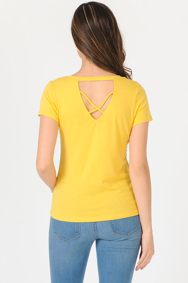 Open Back Detail T-Shirt