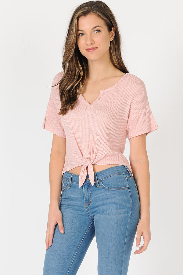 Airy Front Kont T-Shirt in Pink