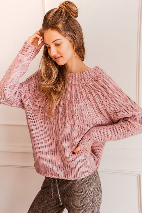 Lilac Chuncky Knit Sweater