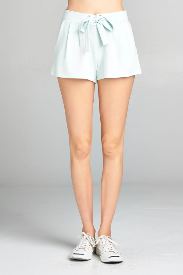 Baby Blue Pull-on Shorts