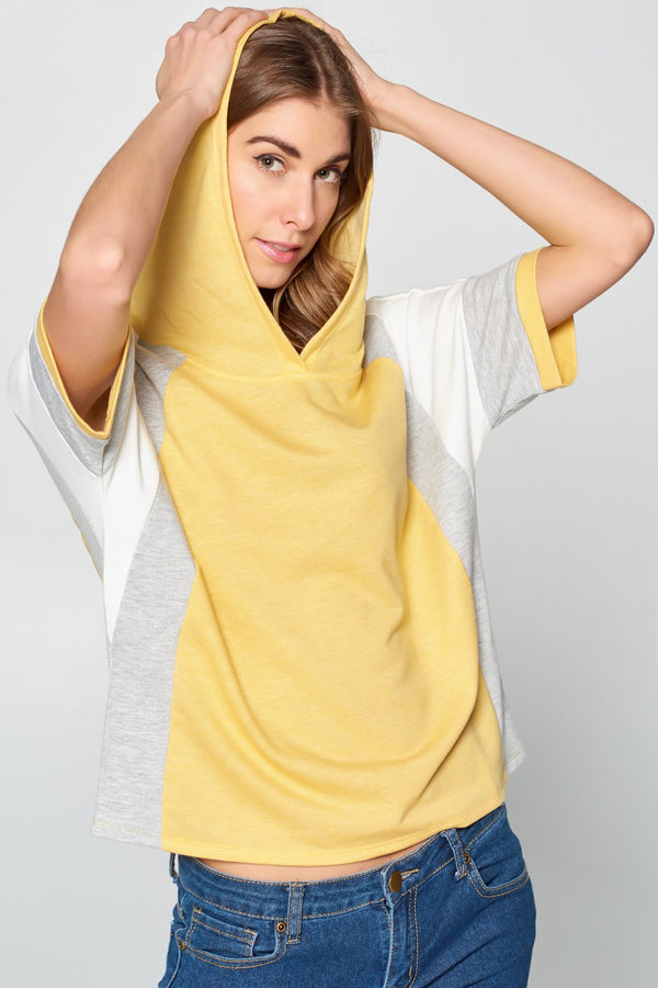 Color Block Hoodie T-shirt
