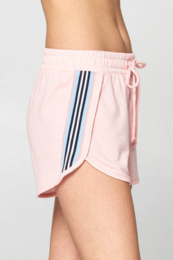 Stripe Shorts in Pink
