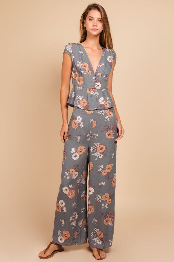 Bottoms - Maddie Floral Straight Pant