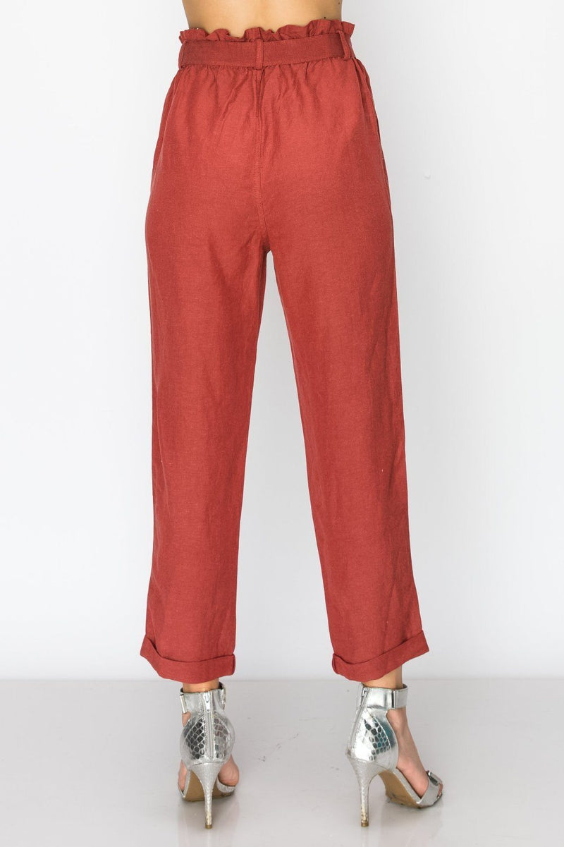 Bottoms - Weekend Getaway Belted Cropped Pants