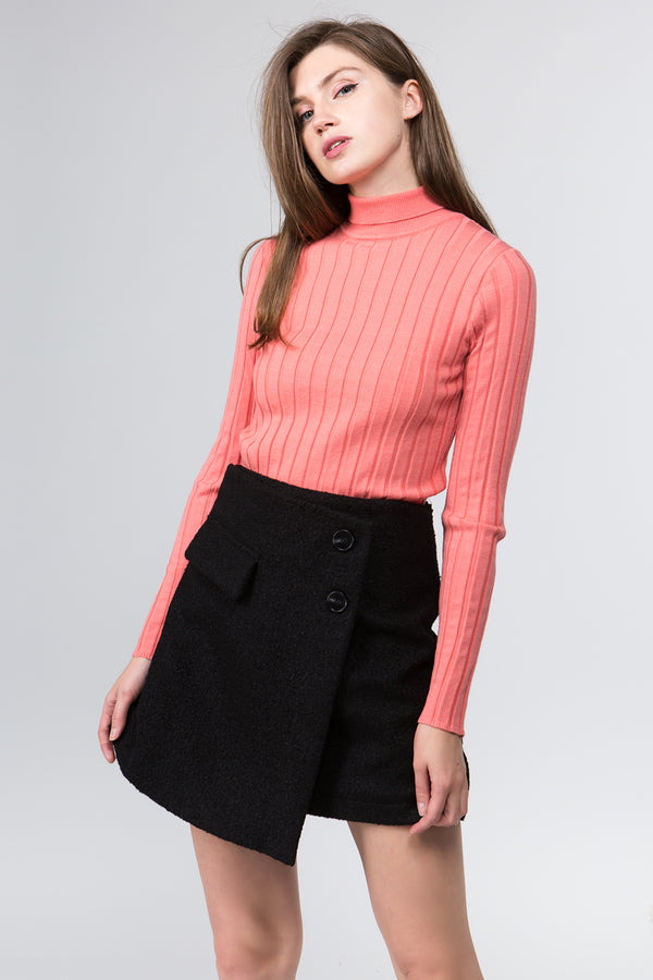 Sana Roll Neck Sweater in Peach