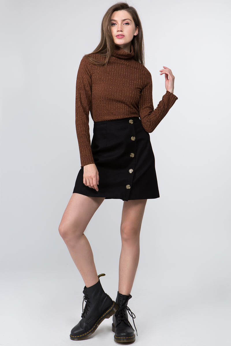 Kara Side Button Skirt
