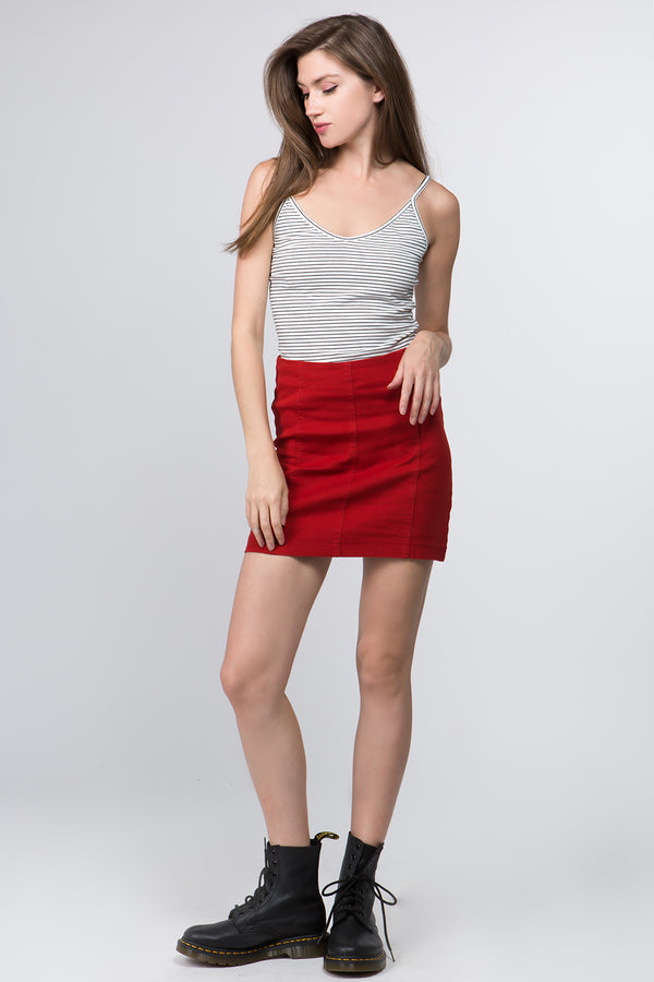 Sonia Mini Skirt in Red