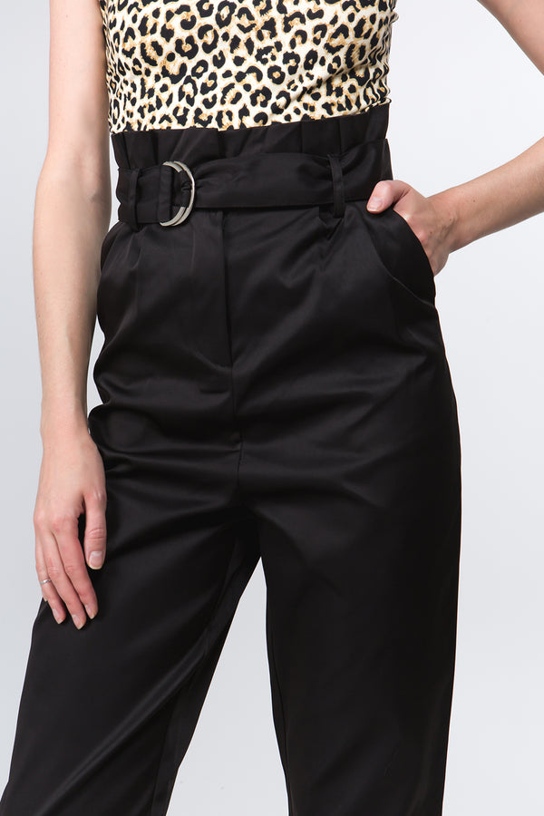 Paperbag Pants in Black