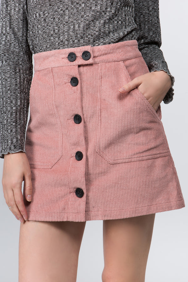 Rosie Cord Mini Skirt