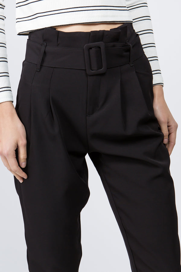 Pant - Alicia Belted Pant in Black