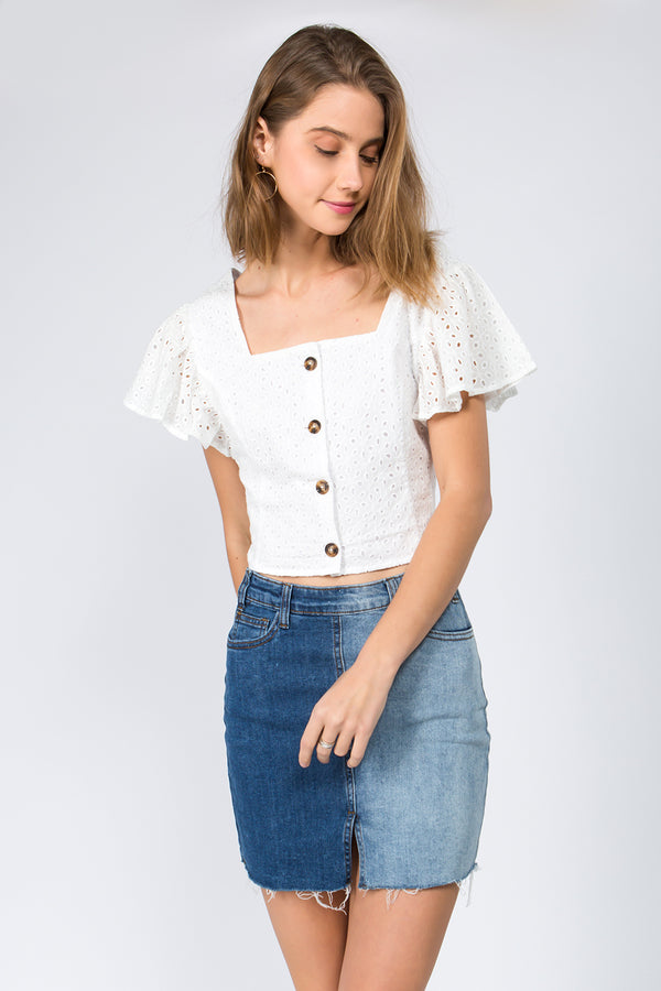 Summer Eve Eyelet Top