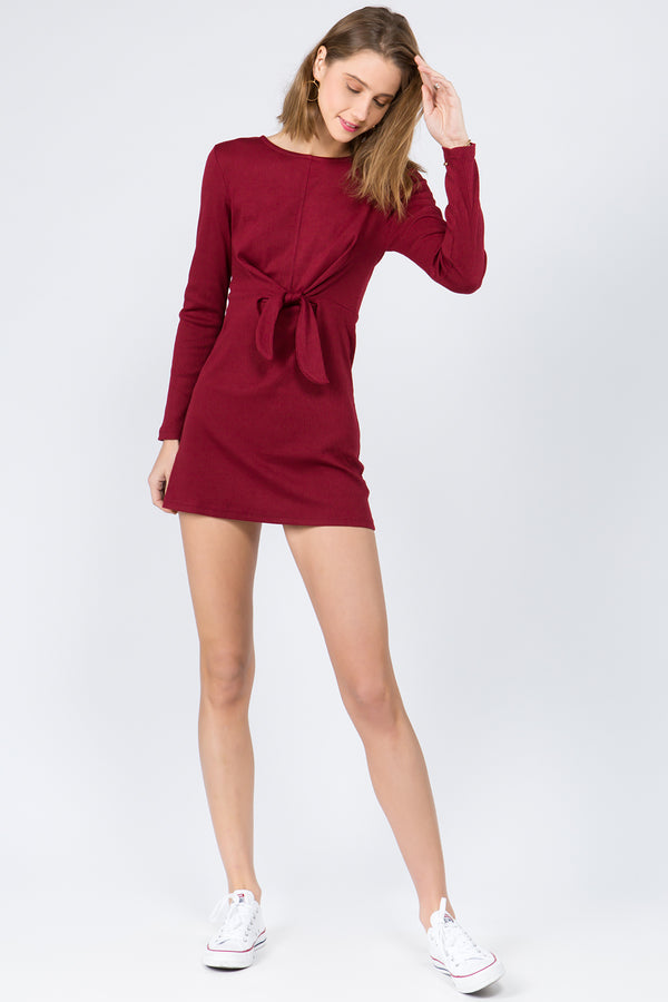 Dress - Abigail Knit Dress in Red