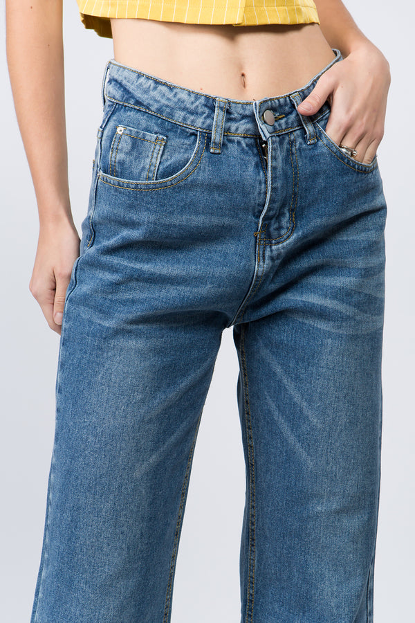 CaliBlue High-Rise Wide Leg Jeans