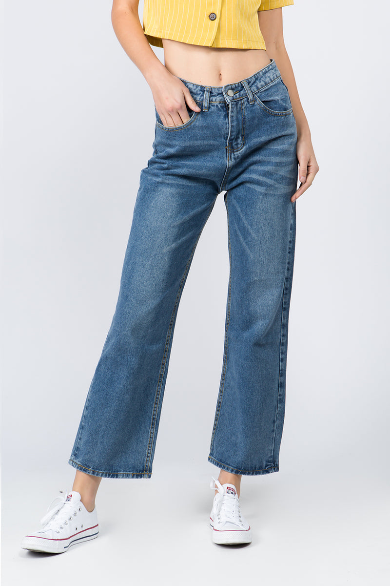 Pant - CaliBlue High-Rise Wide Leg Jeans