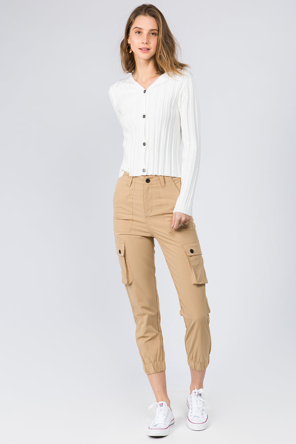 Raine Skinny Knit Cardi in White