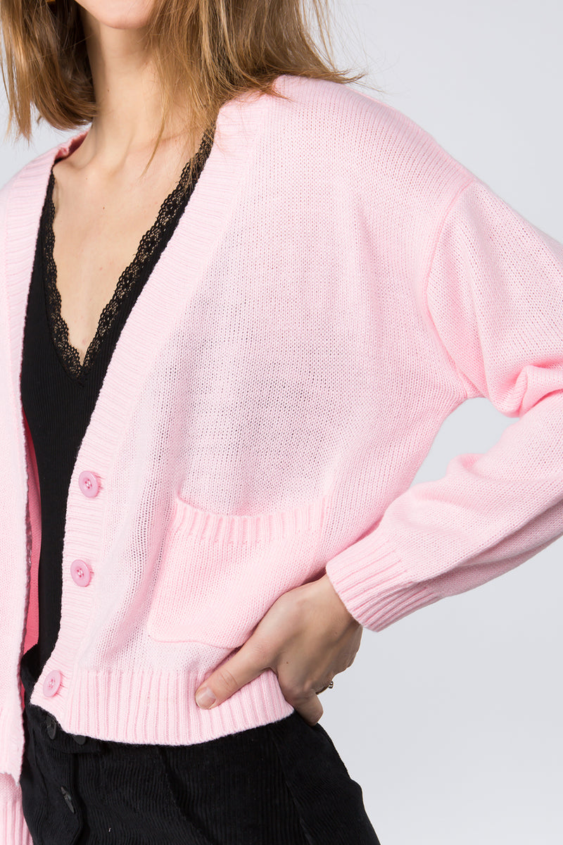 Hot Pink Cozy Cardigan