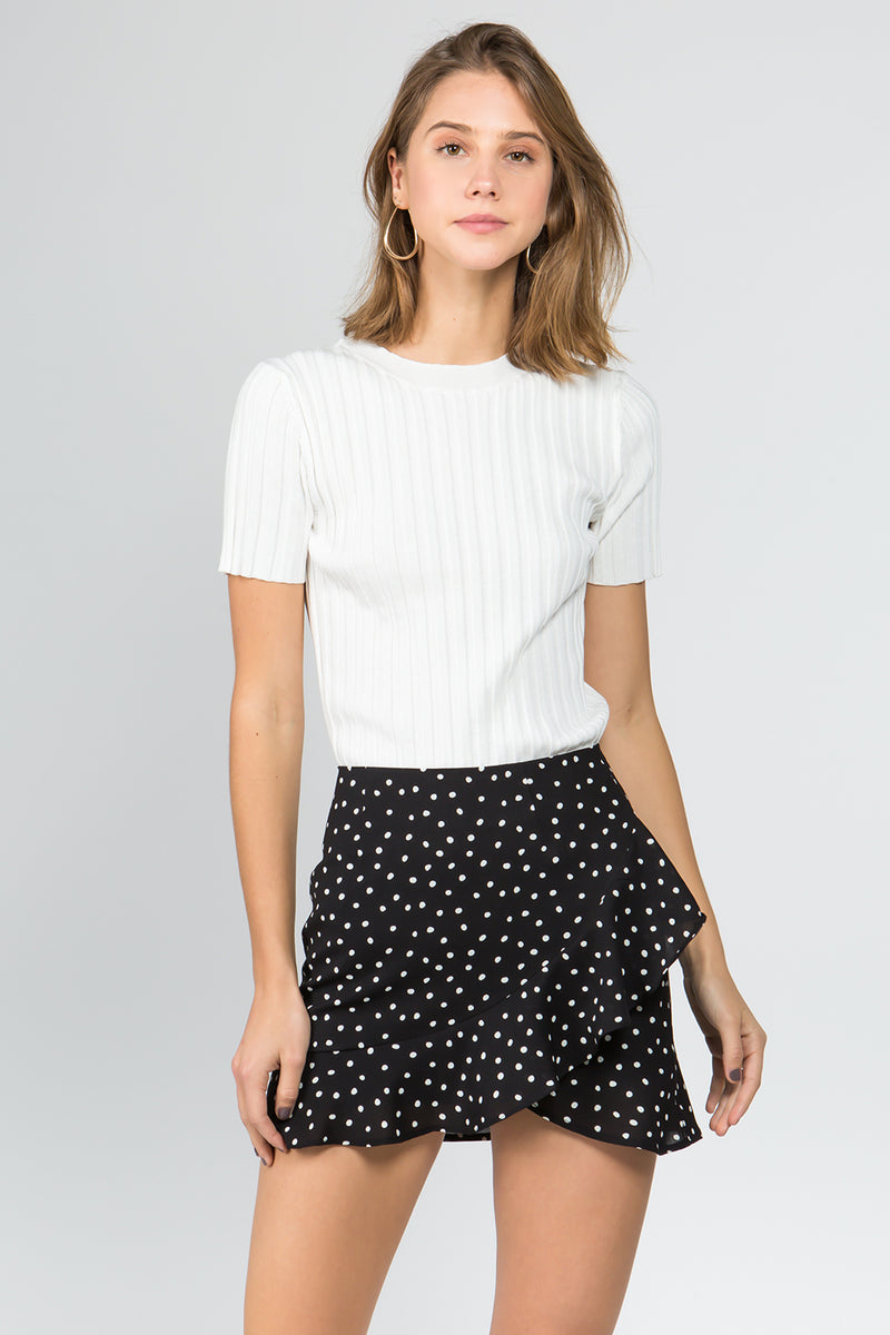 Polka Dot Skirt in Black