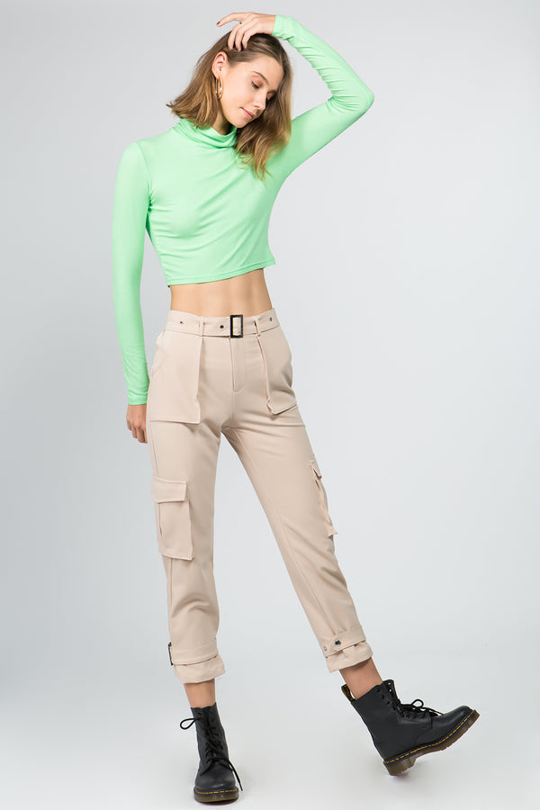 bfffd79e0769 ... Utility Belted Pants in Cream