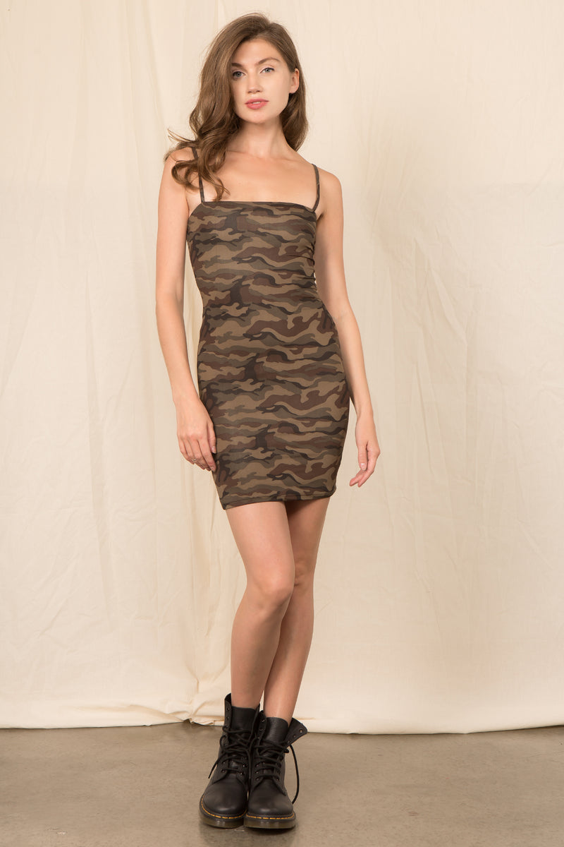 Camo Bodycon Dress