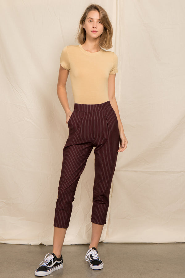 Jogger Pants in Wine