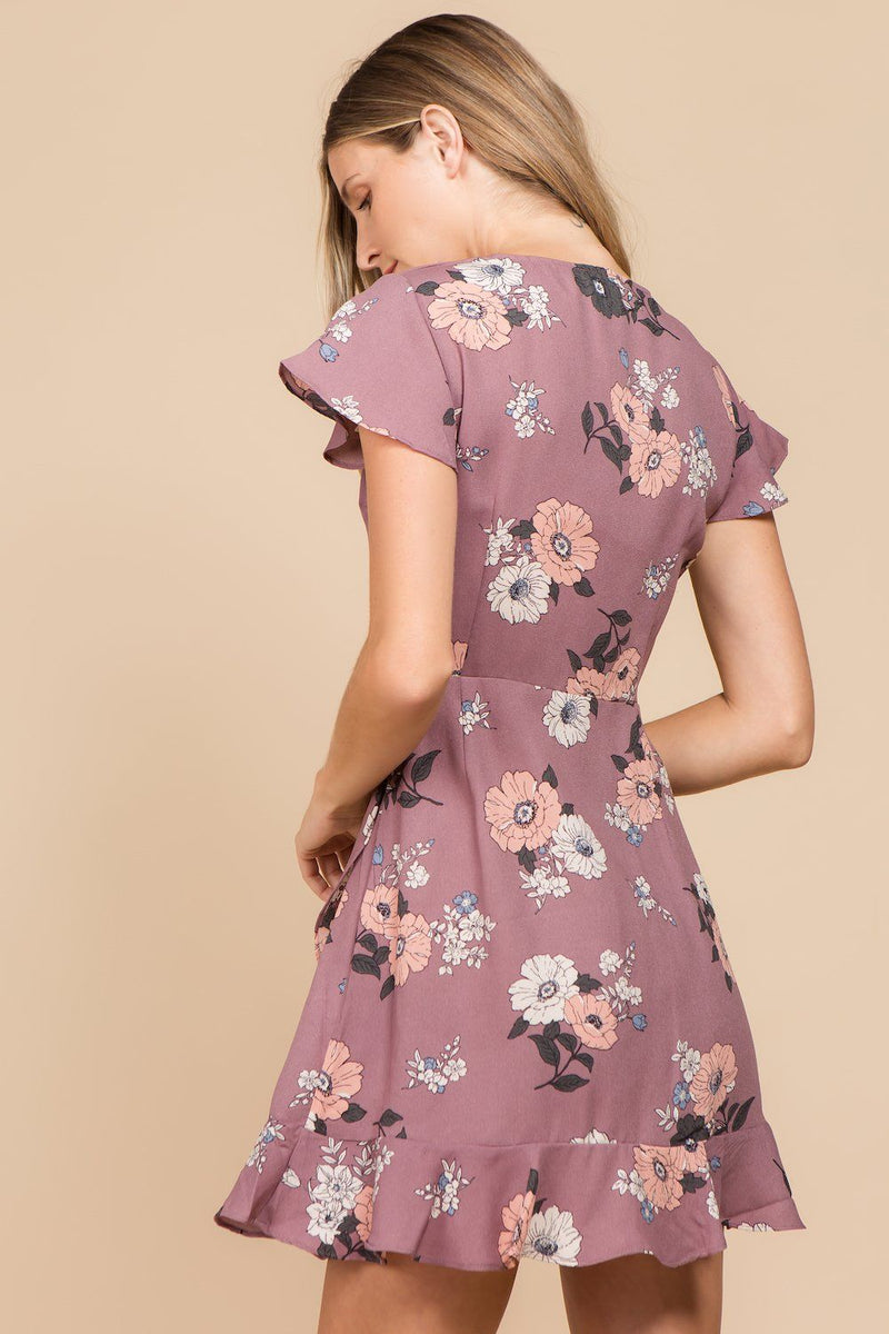 Dresses - Angelica Floral Wrap Dress
