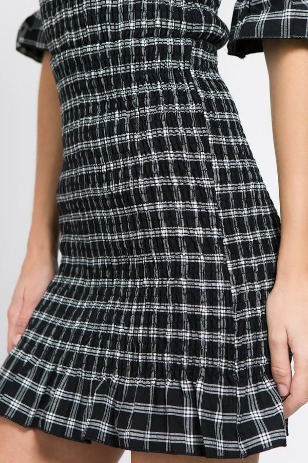 Dresses - Gingham Bodycon Mini Dress