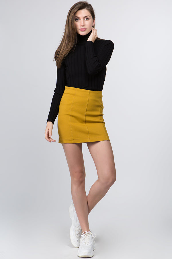 Sonia Mini Skirt in Mustard