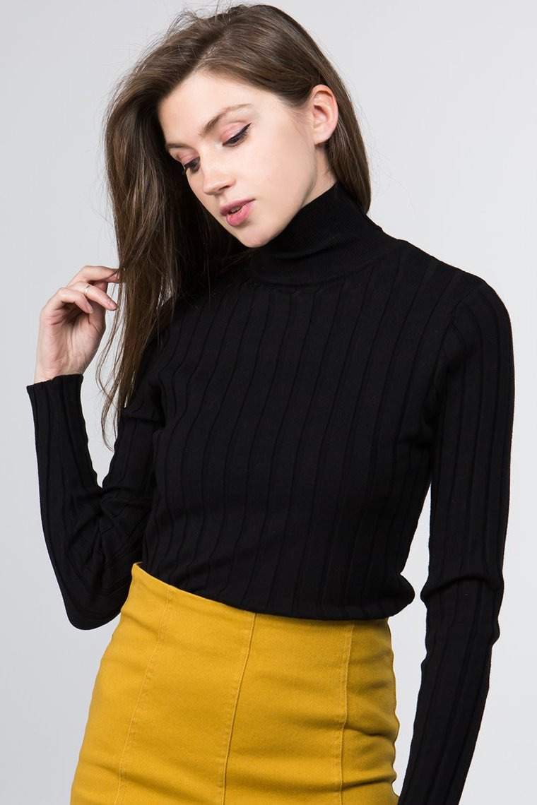 Turtleneck Sweater in Black