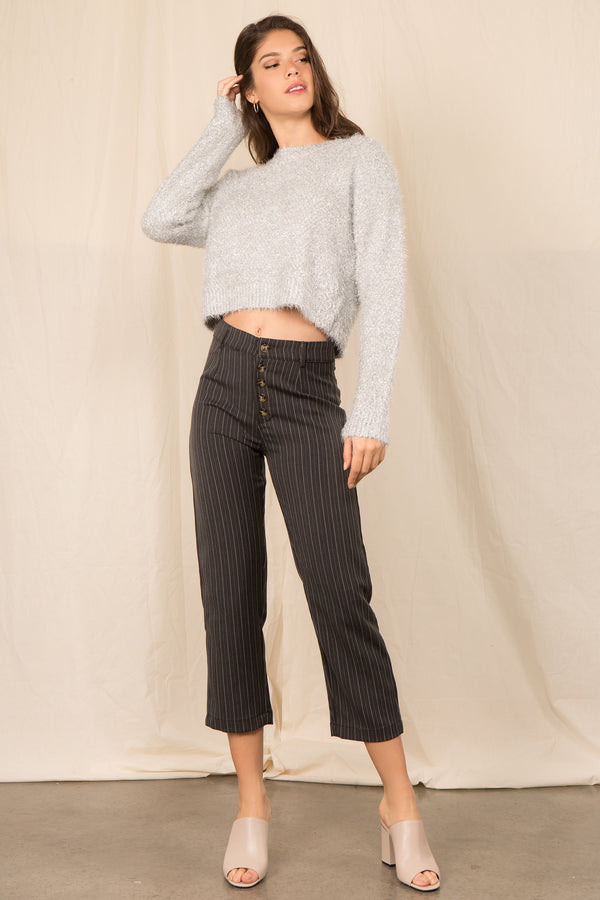 The Starlette Sweater in Silver