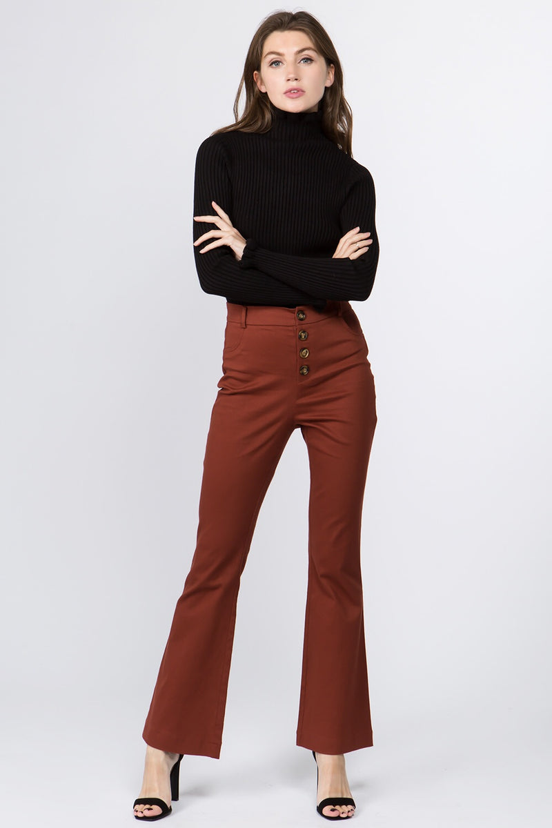 May Flare Pant in Wine