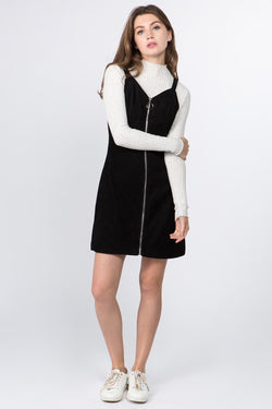 Chiara Cord Dress in Black
