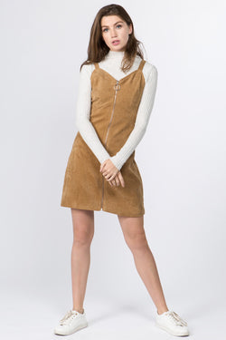 Chiara Cord Dress in Camel