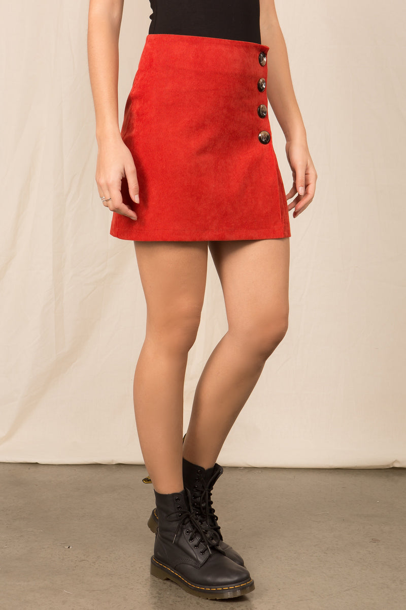 The Lana Skirt in Red