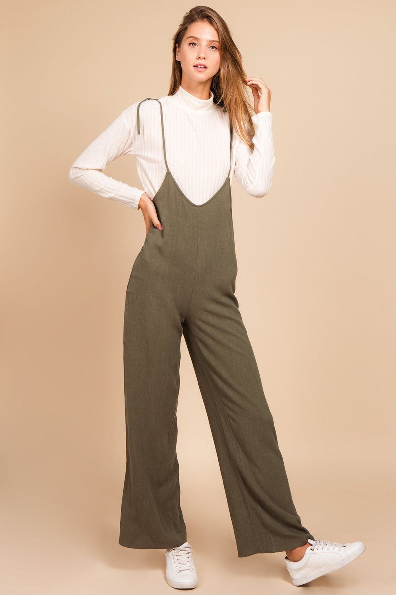Rompers & Jumpsuits - Jojo Shoulder Tie Jumpsuit