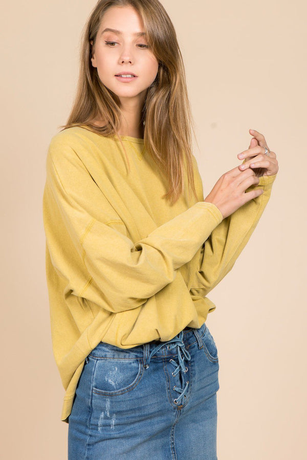 Tops - Sage Wide Sleeves Sweatshirt