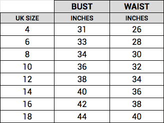 makerlysg general size guide