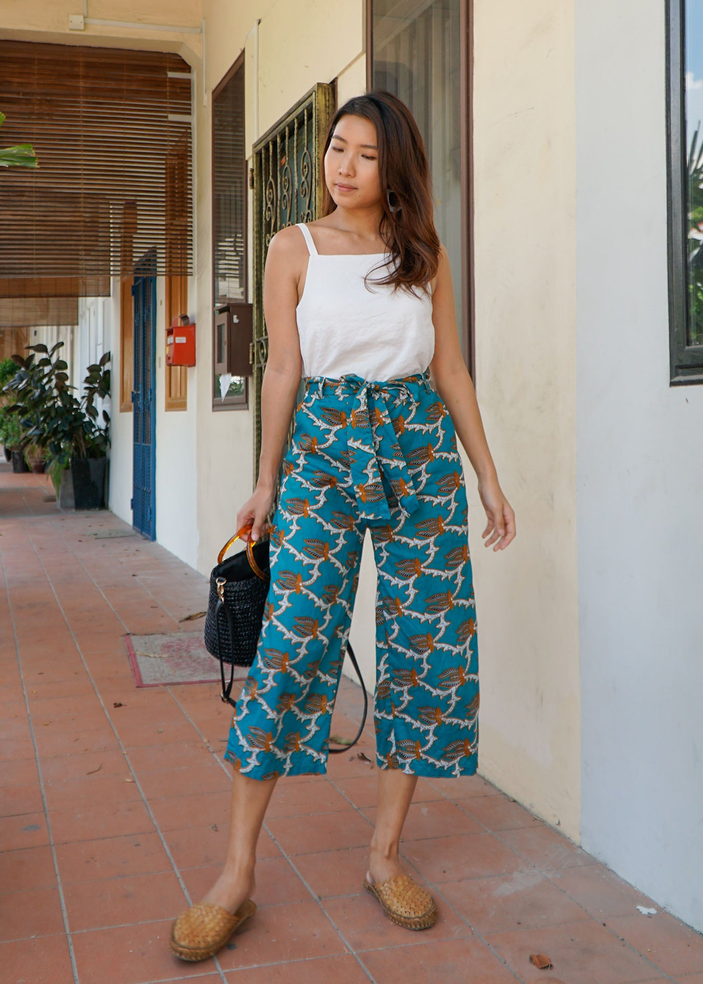 Imara Flare Pants in Turquoise Shell