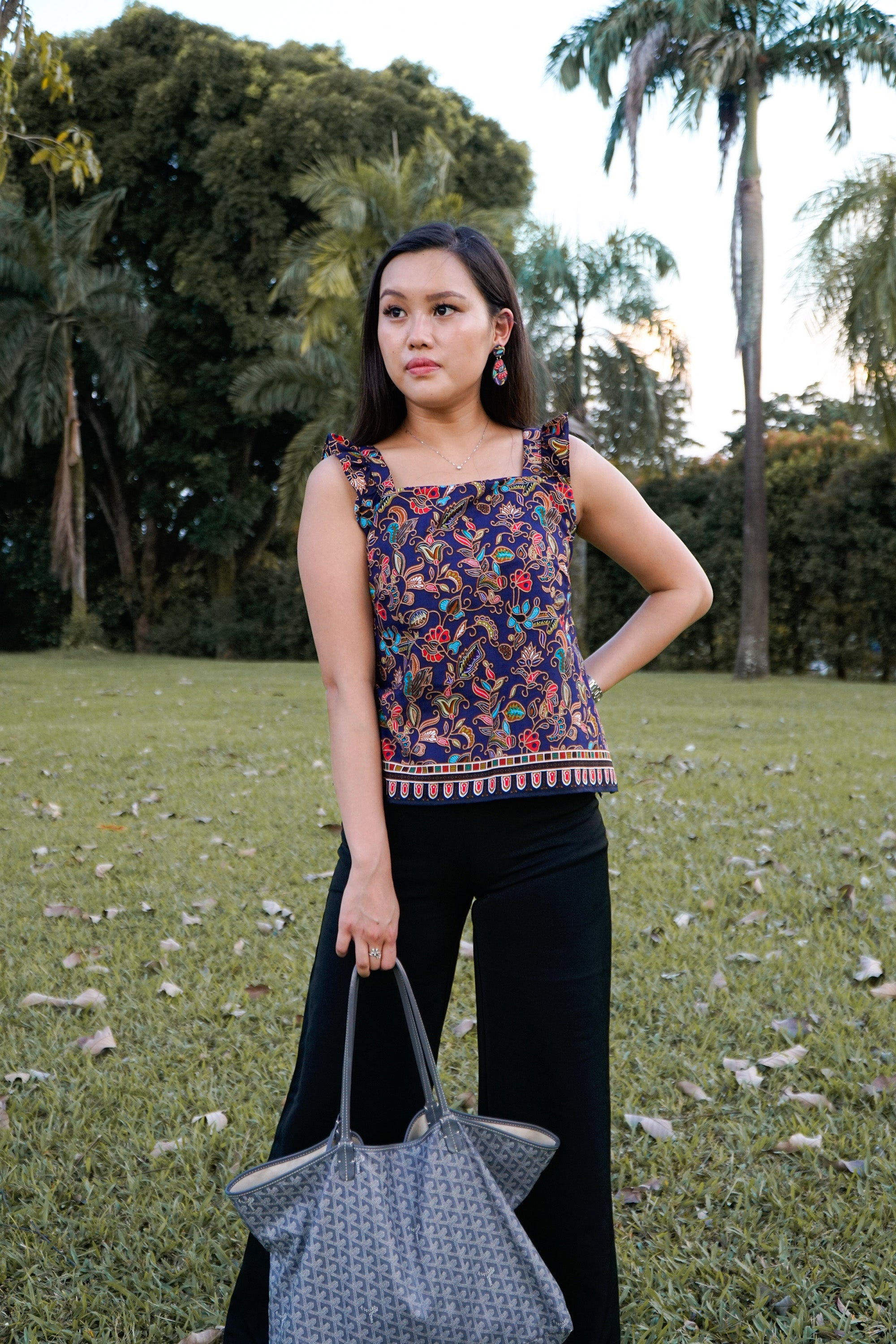 [Collab] Navy Singapore Batik Set