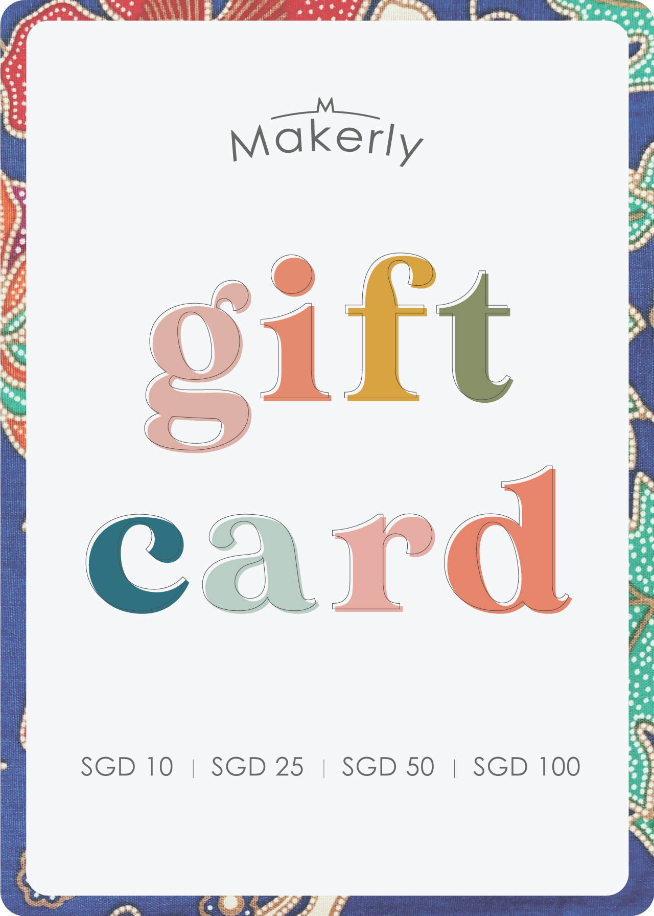 MAKERLY Digital Gift Card