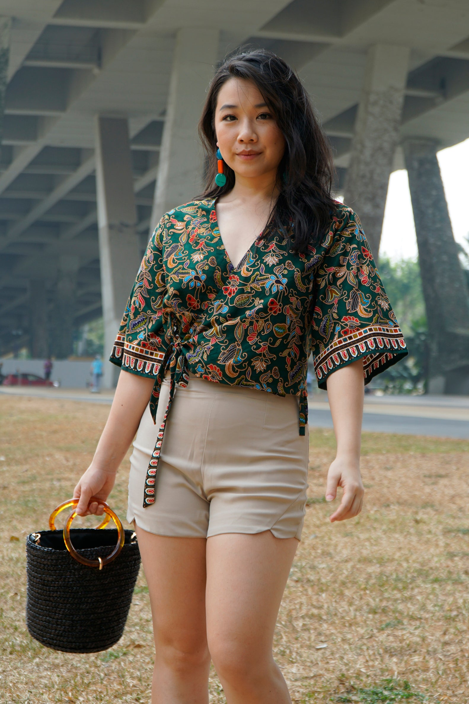 Cropped Wrap Top (Ready-made)