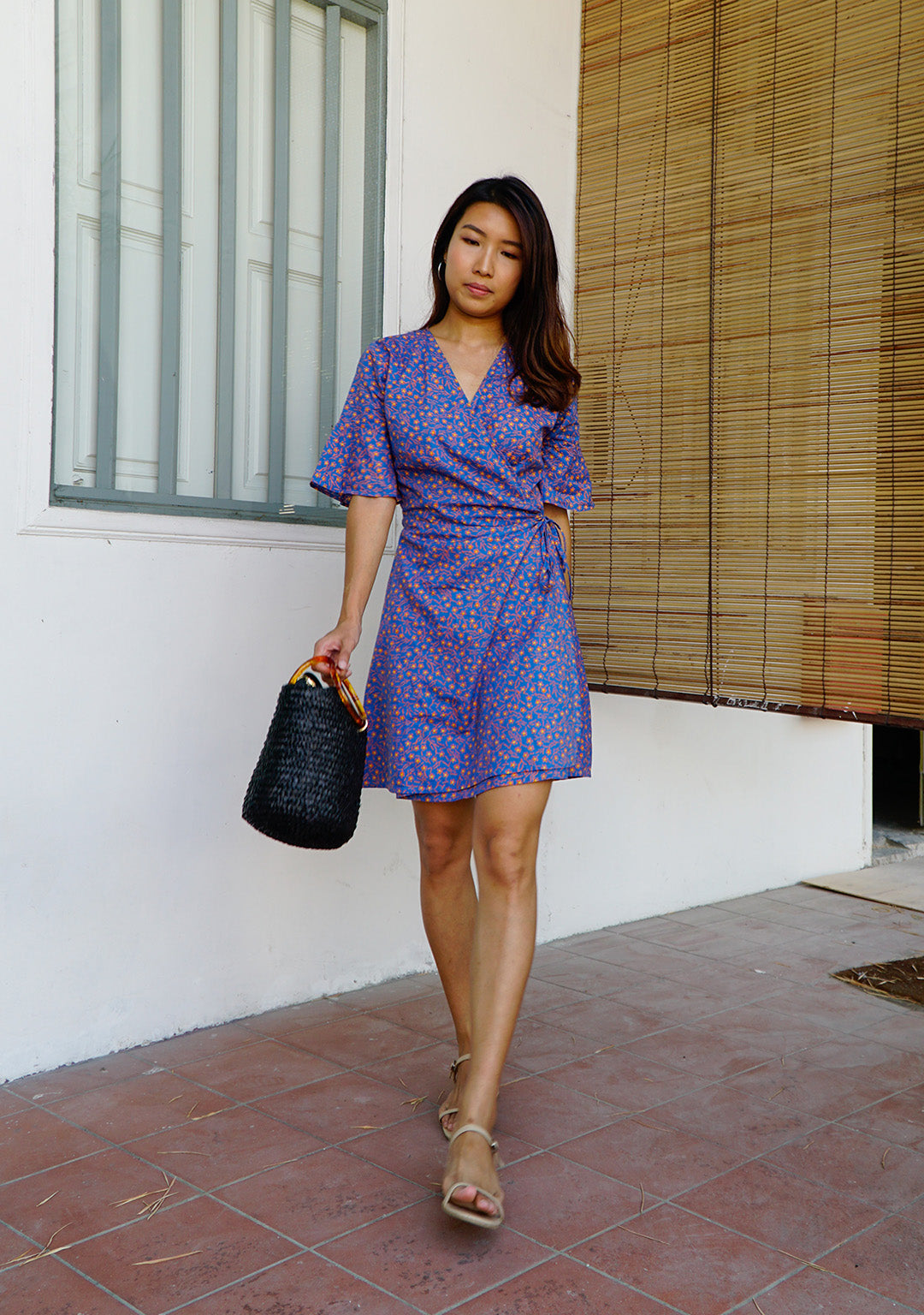 Magnolia Batik Wrap Dress in Purple Passion