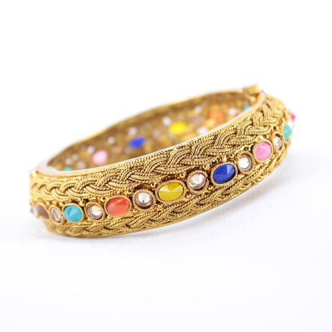 Gold Braided Design Kada - Available in 4 colors