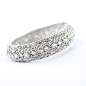 Silver Braided Design Kada