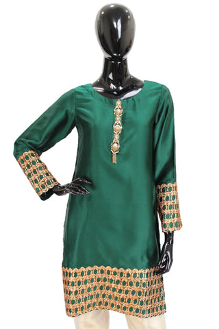 Emerald Green Kurti Gota Embroidery
