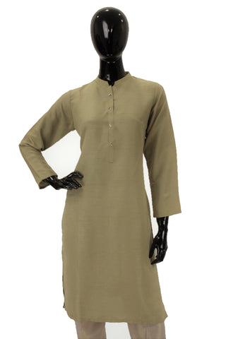 Raw Silk Kurti - Sage Green
