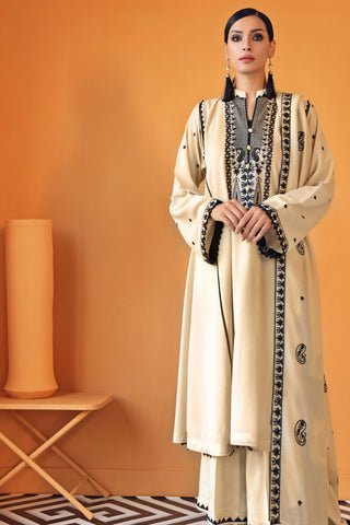 Gul Ahmed Winter Stitched 3pc suit