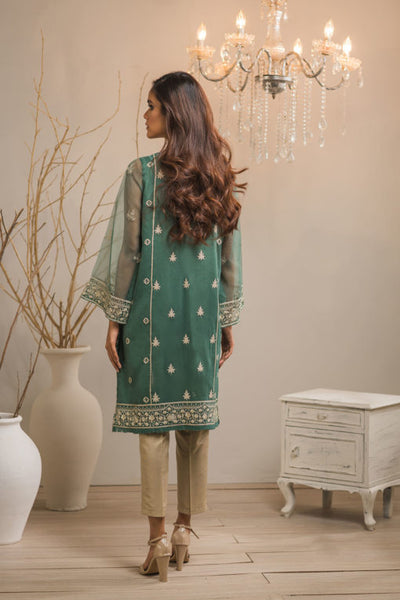 Green Embroidered Kurti