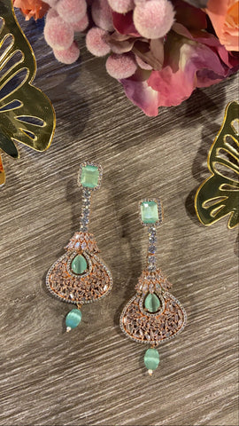 Mint drop Earrings