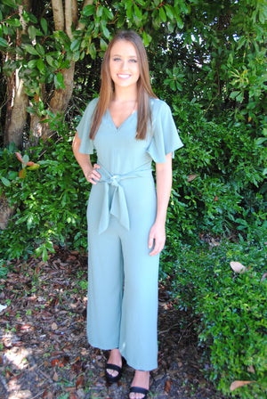 Gorgeous in Green Jumpsuit